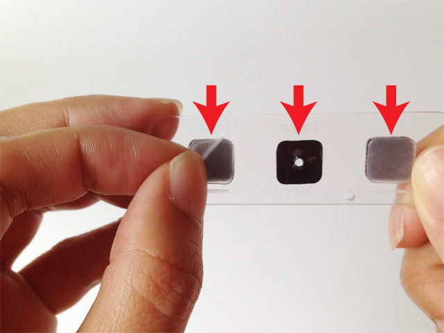 peel off the 3 protective films